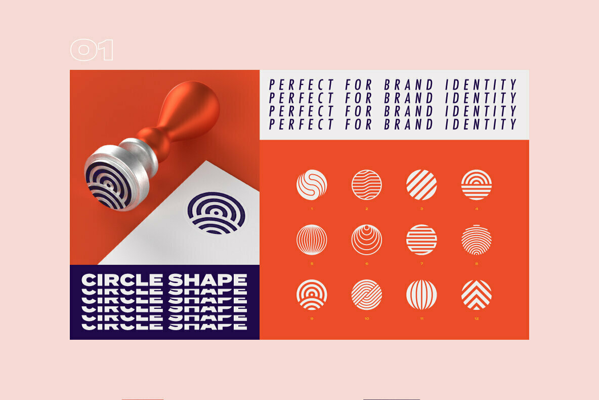 96 Geometric Shapes   Logo Marks Collection VOL 2