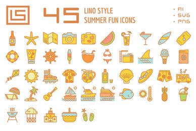 45 Summer Fun Icons