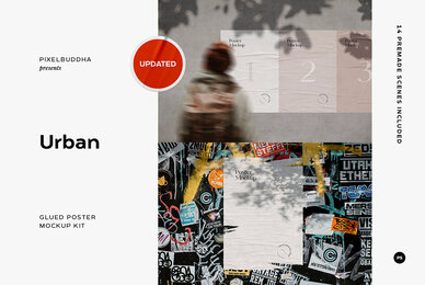 Glued Poster Mockups Bundle