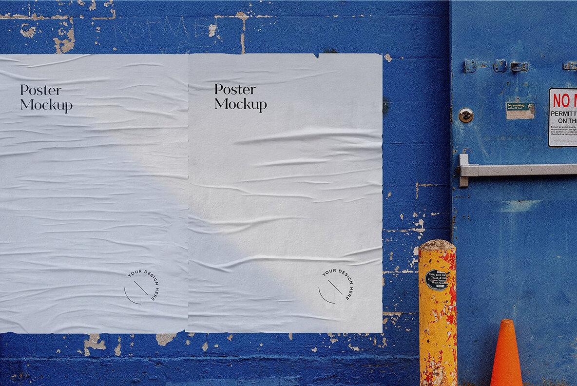 Glued Poster Mockups Bundle