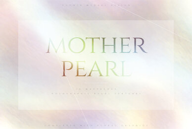 Mother Pearl   Holographic Texture  Florals
