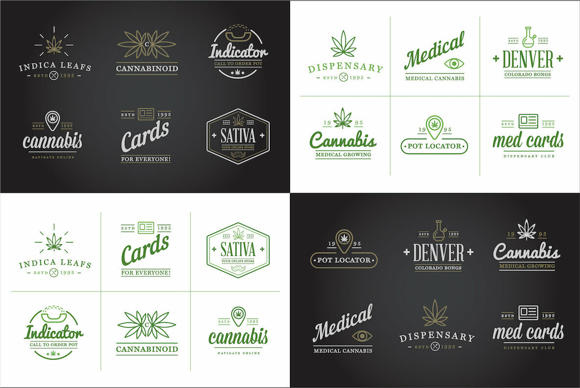 Awesome Cannabis Logotype Templates