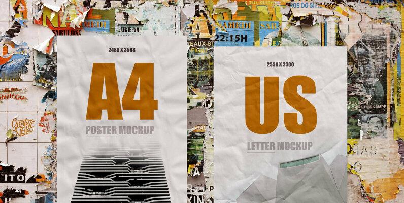 Street Art   Paper Poster Mockups