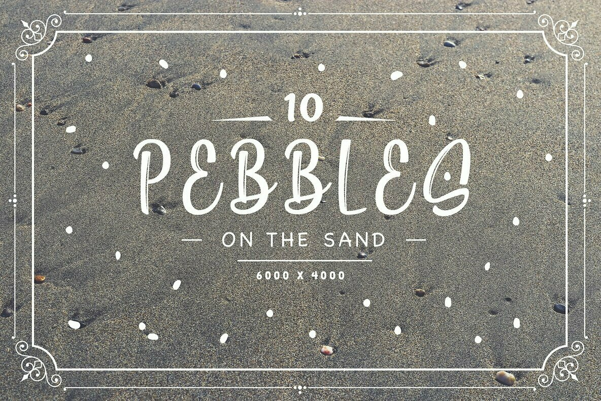 10 Pebbles on the Sand Backgrounds