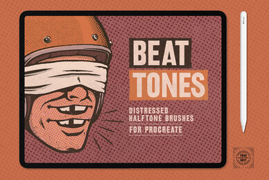 Beat Tones Halftone Brushes For Procreate