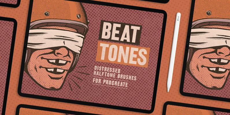 Beat Tones Halftone Brushes For Procreate
