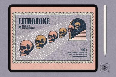 Lithotone Brushes for Procreate