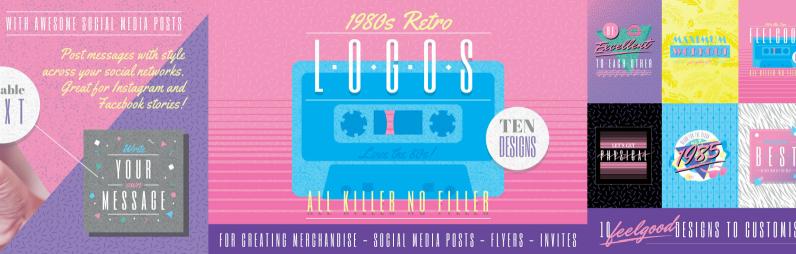 1980s Retro Logos and Slogans