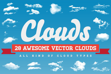 Clouds   28 Vector Clouds All Kind of Cloud Types