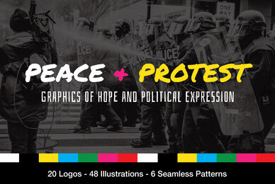 Peace and Protest Logos and Illustrations