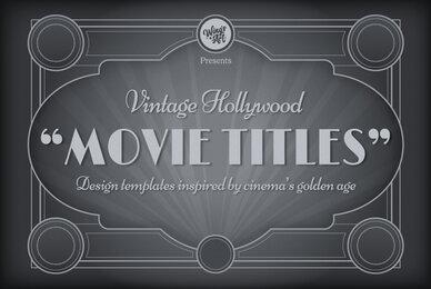 Vintage Movie Titles Design Templates