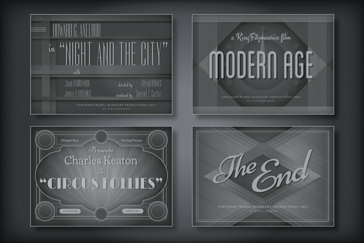 Vintage Movie Titles Design Templates