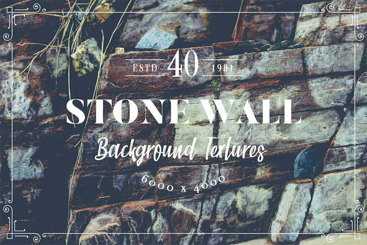 40 Stone Wall Background Textures