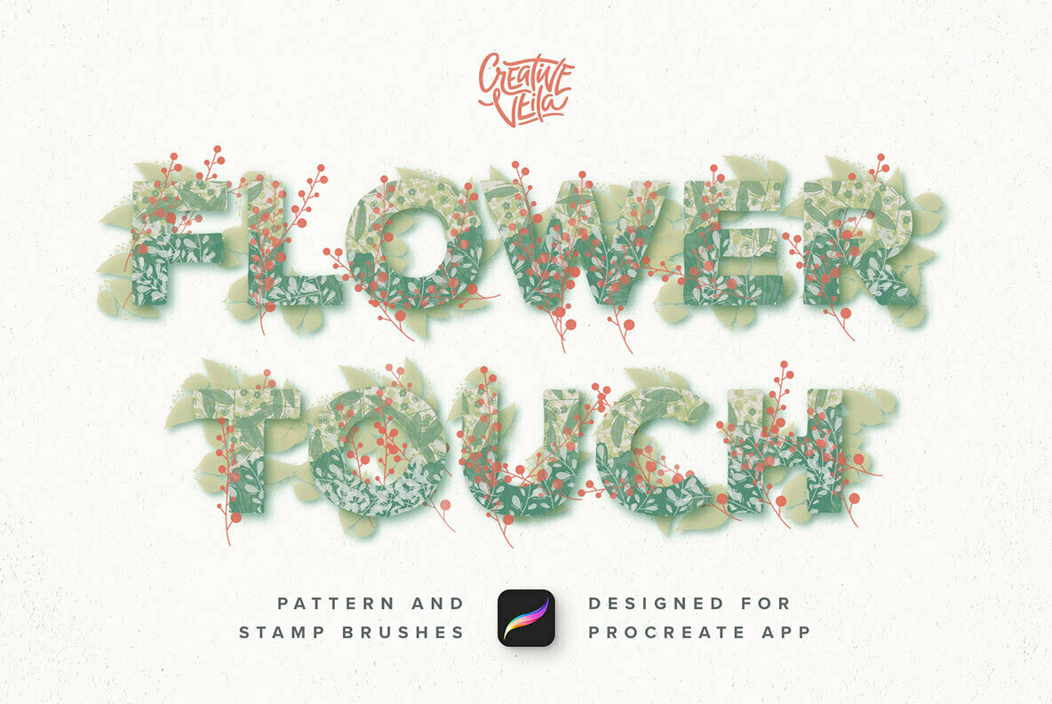 Flower Touch Procreate Brushes