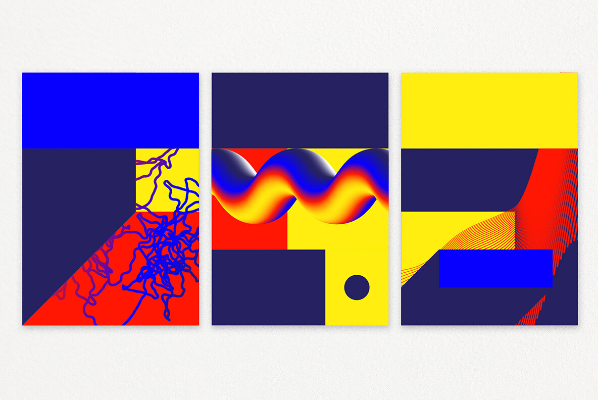 Cosmic Geometry 87 Shapes Posters