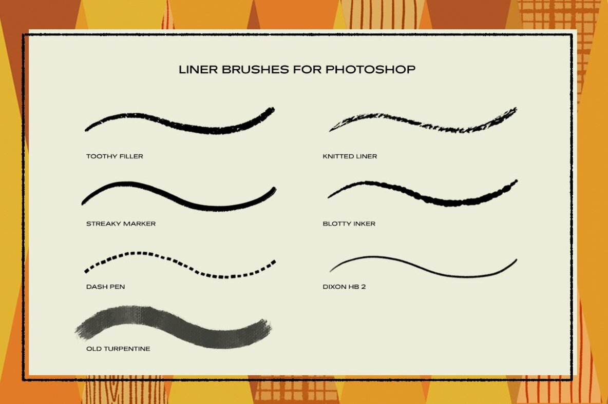 The Liner Brush Pack for Photoshop