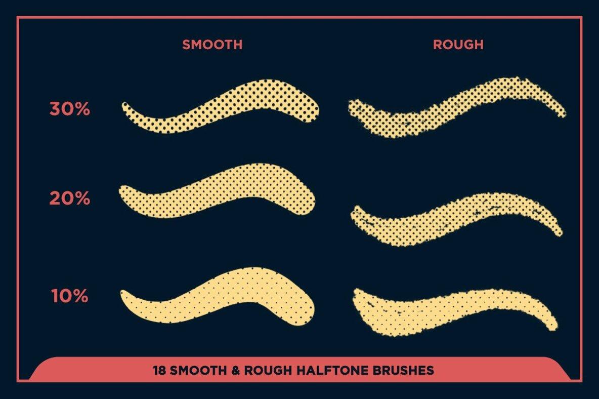 Black Magic Halftones   Halftone Brushes for Procreate