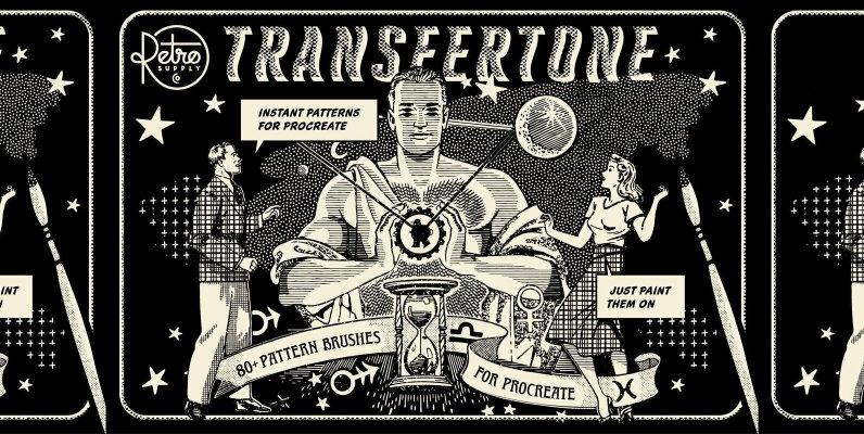 TransferTone   Dry Transfer Patterns for Procreate