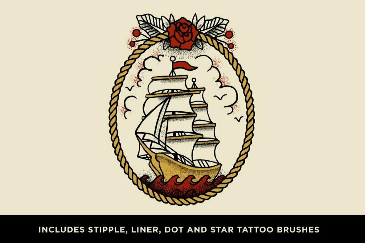 Drunk Sailor Stippling Brushes for Procreate