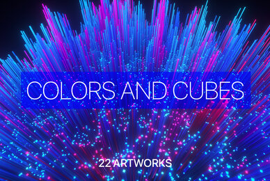 Colors and Cubes Abstract Backgrounds