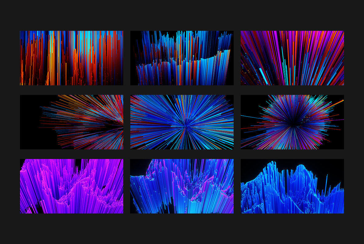Colors and   ubes Abstract Backgrounds