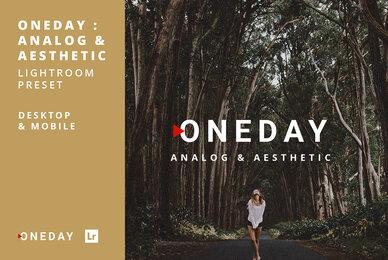 Oneday Analog  Aesthetic Lightroom Presets