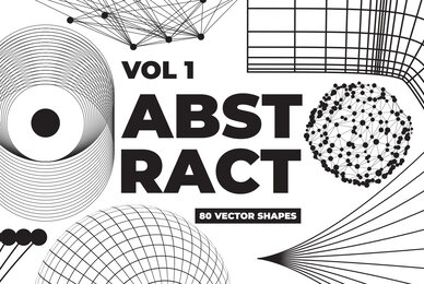 80 Vector Abstract Shapes Vol 1