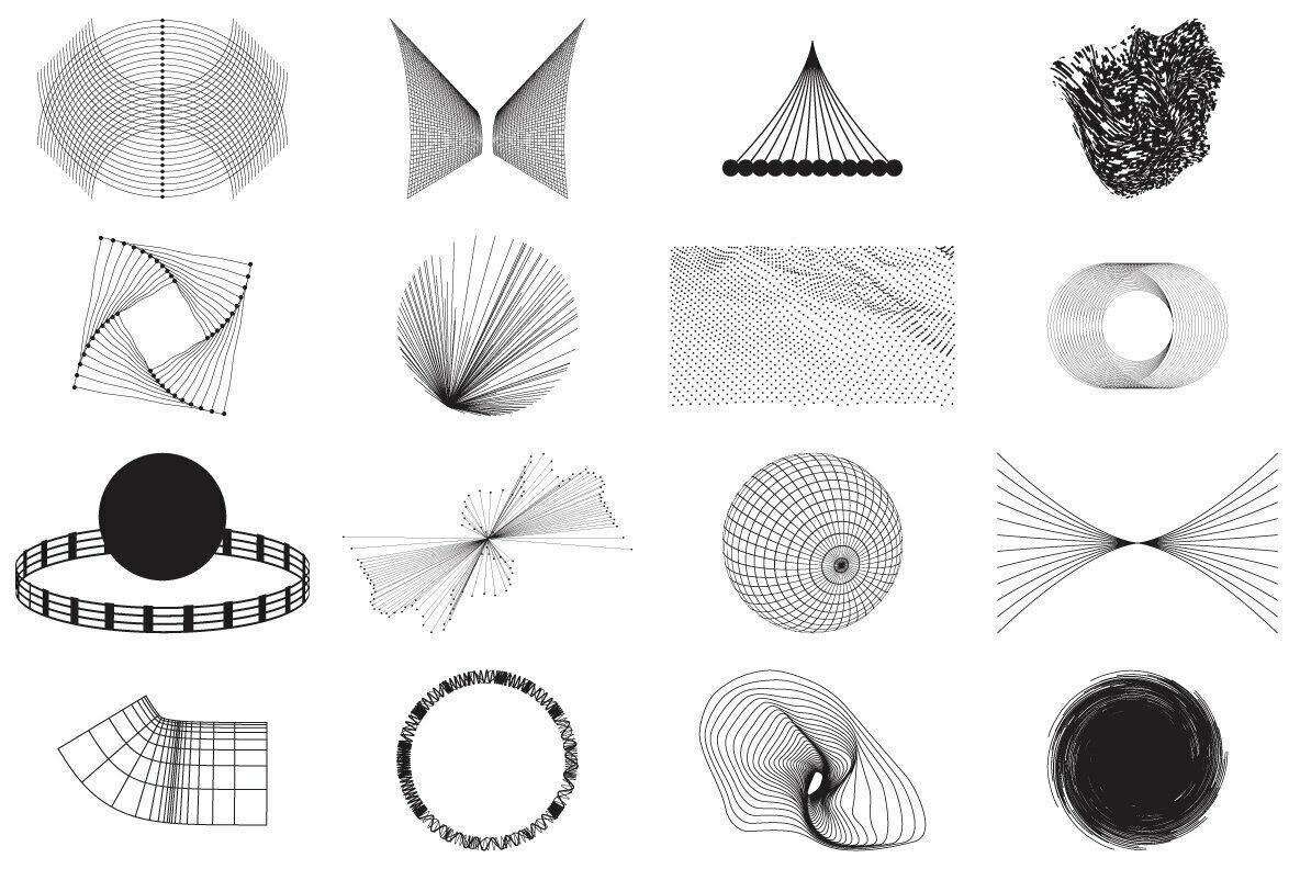 80 Vector Abstract Shapes Vol 1
