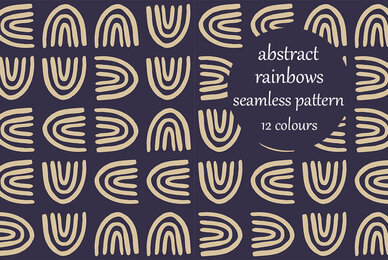 Abstract Rainbows Block Pattern