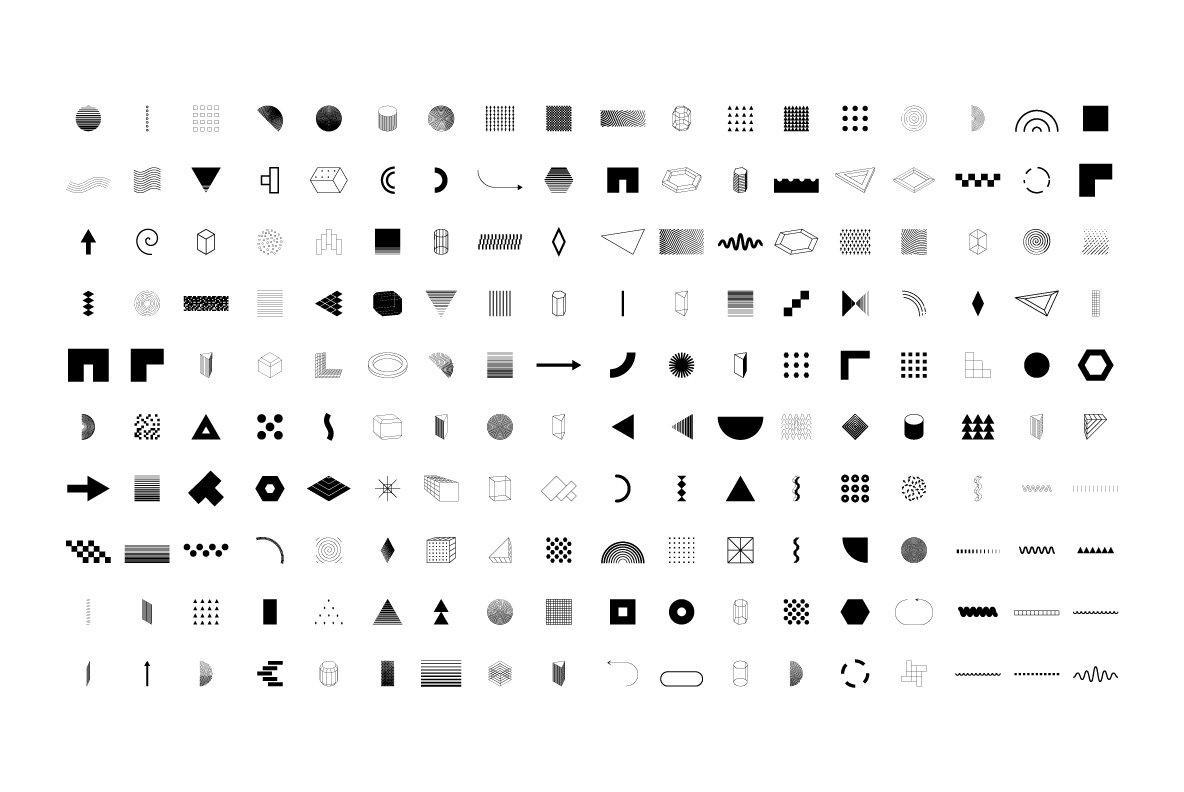 206 Vector Shapes   Posters Set