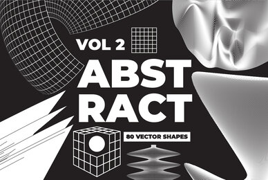 80 Vector Abstract Shapes Vol 2