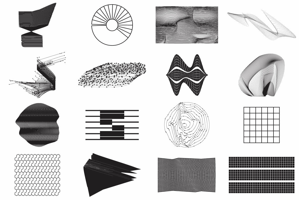 80 Vector Abstract Shapes Vol 2