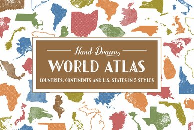 Hand Drawn World Atlas