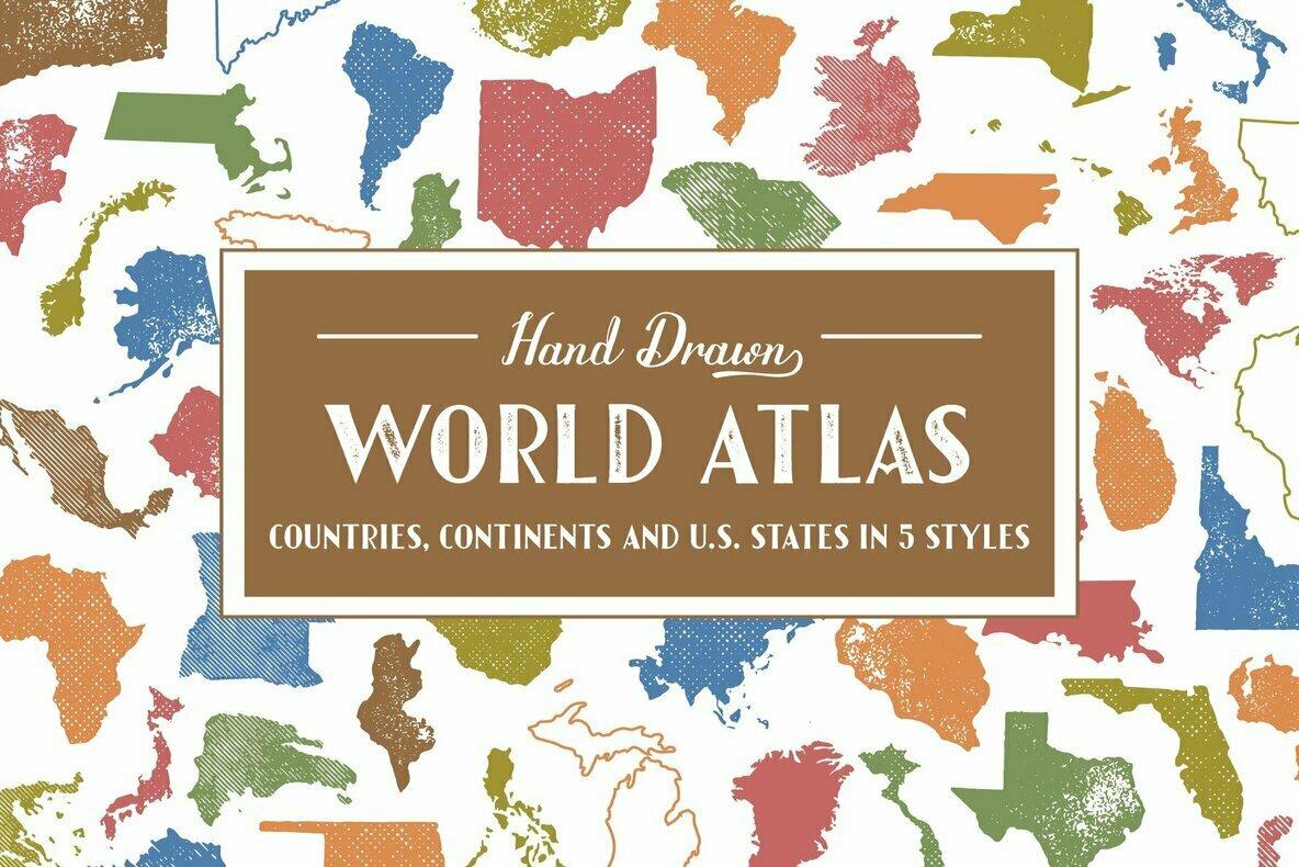Hand Drawn World Atlas