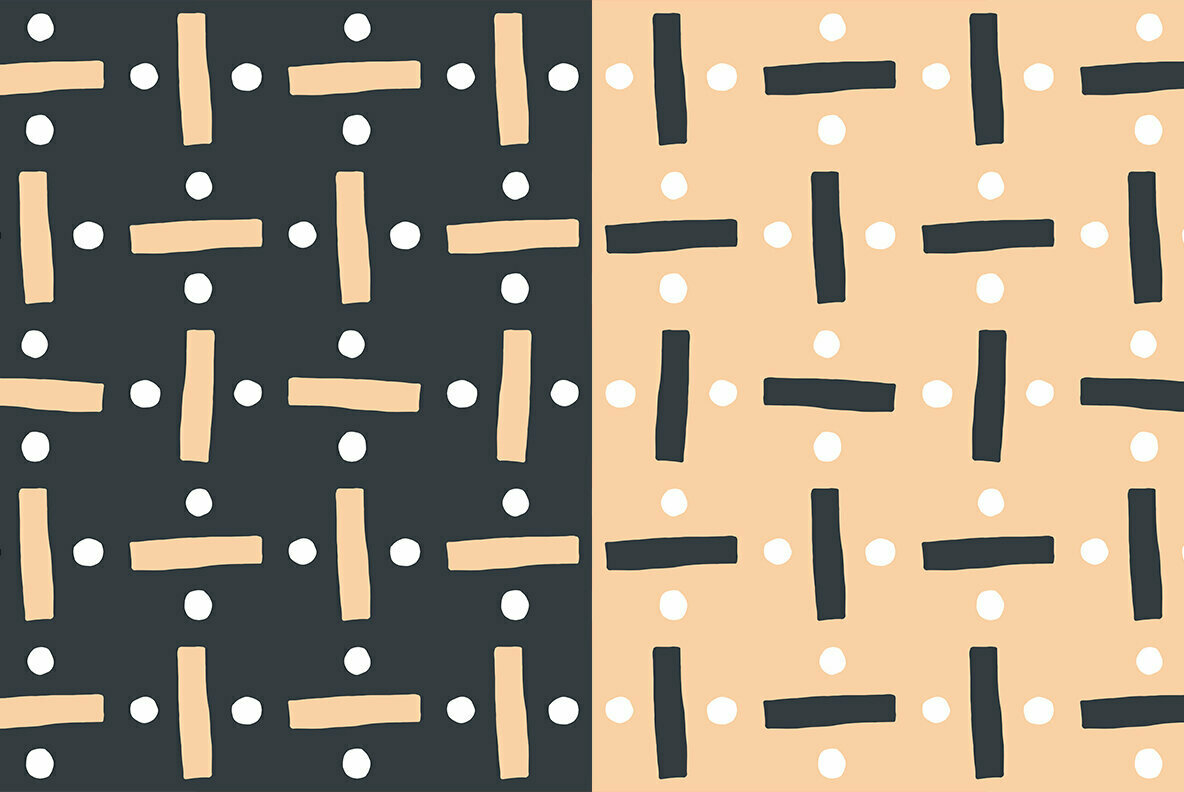 Abstract Divide Block Shapes Pattern