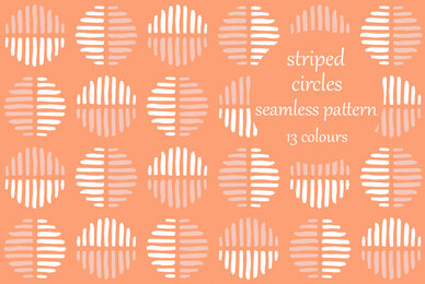 Striped Circles Block Pattern