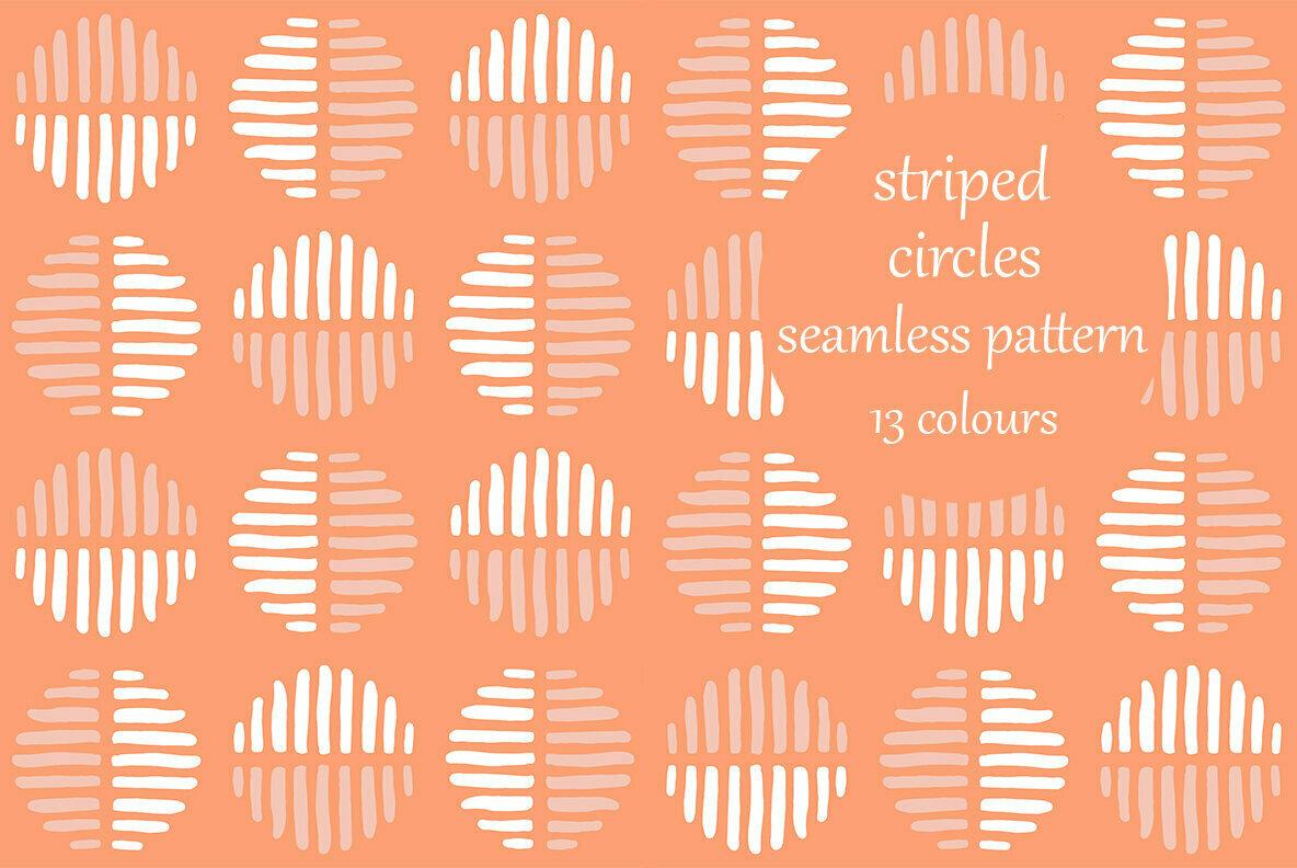 Striped Circles Block Pattern