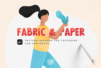 Fabric  Paper Procreate Brushes