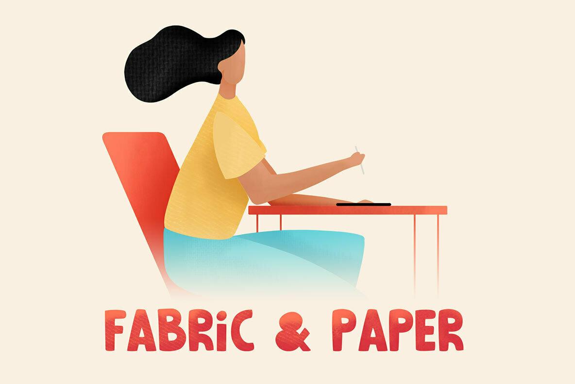 Fabric   Paper Procreate Brushes