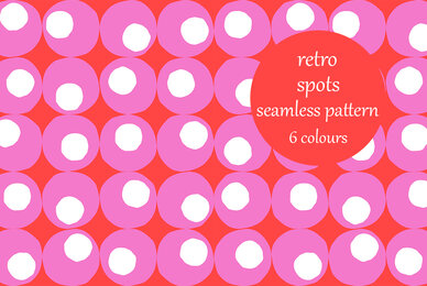 Abstract Random Spots Retro Pattern