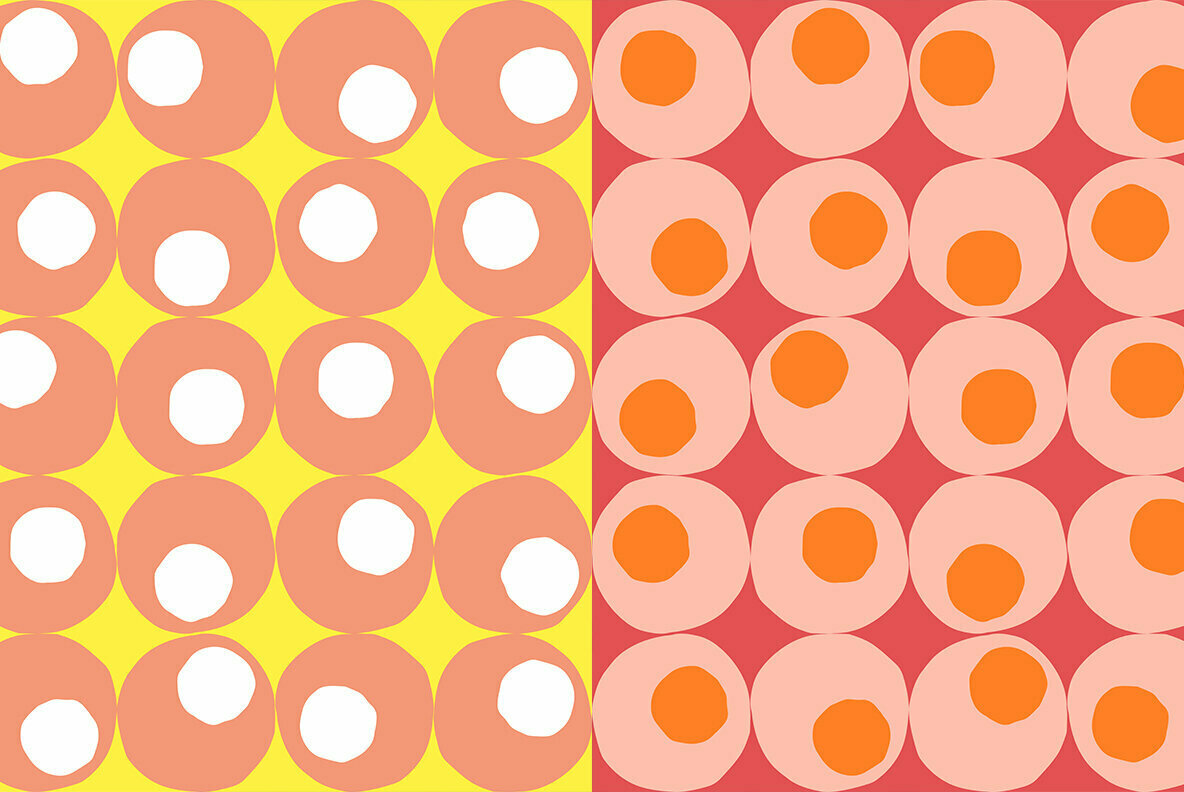 Abstract Random Spots Retro Pattern