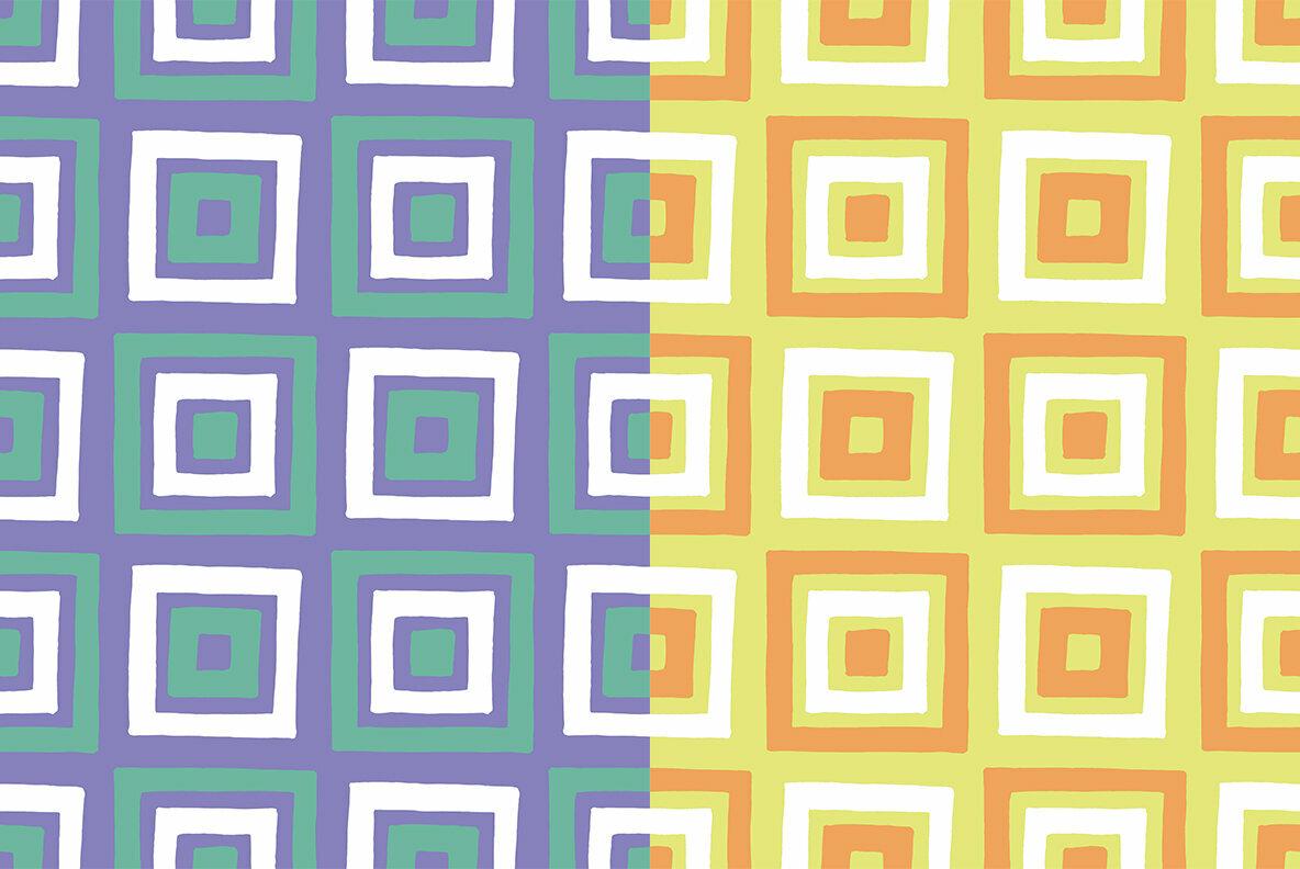 Hand Drawn Squares Pattern