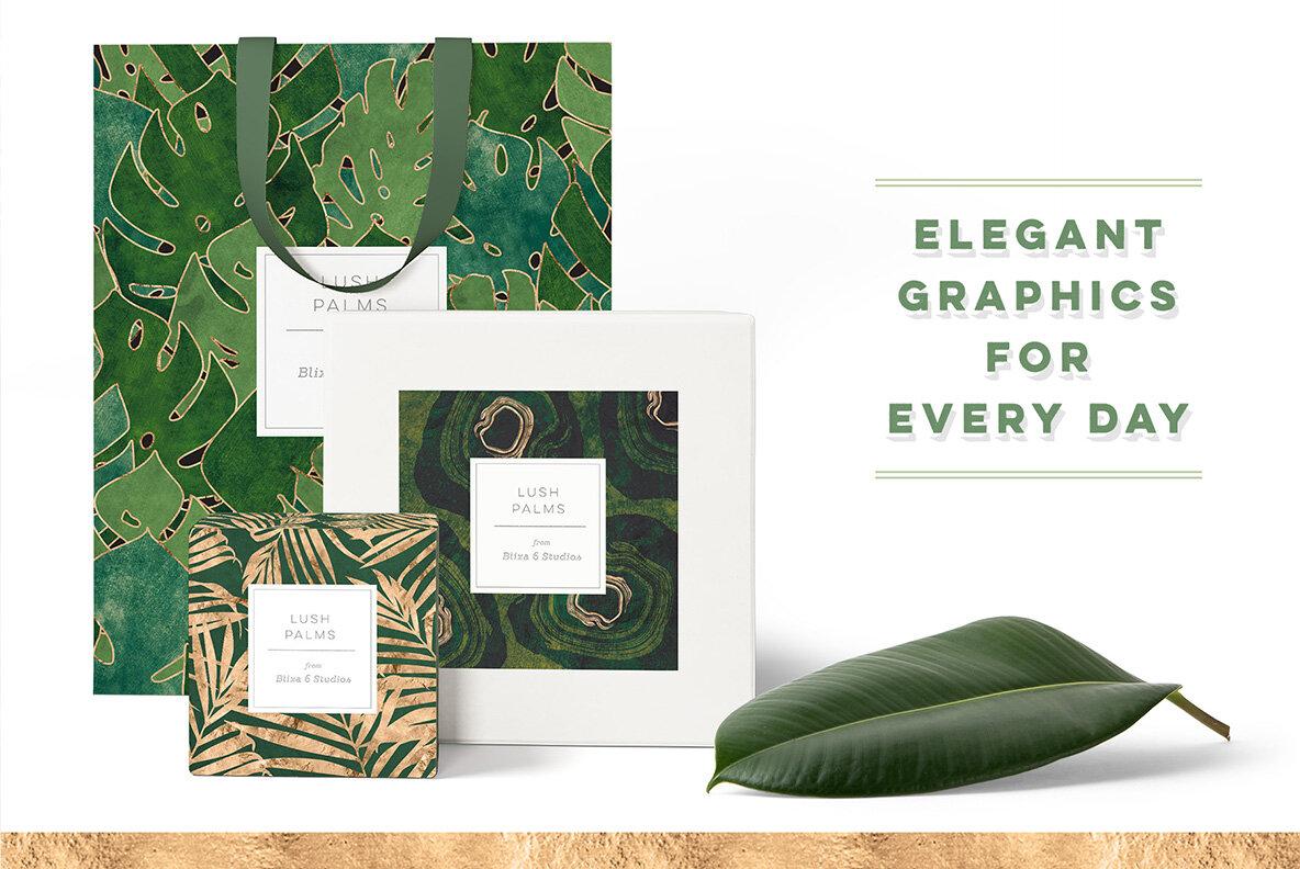 Tropical Palms Digital Graphics