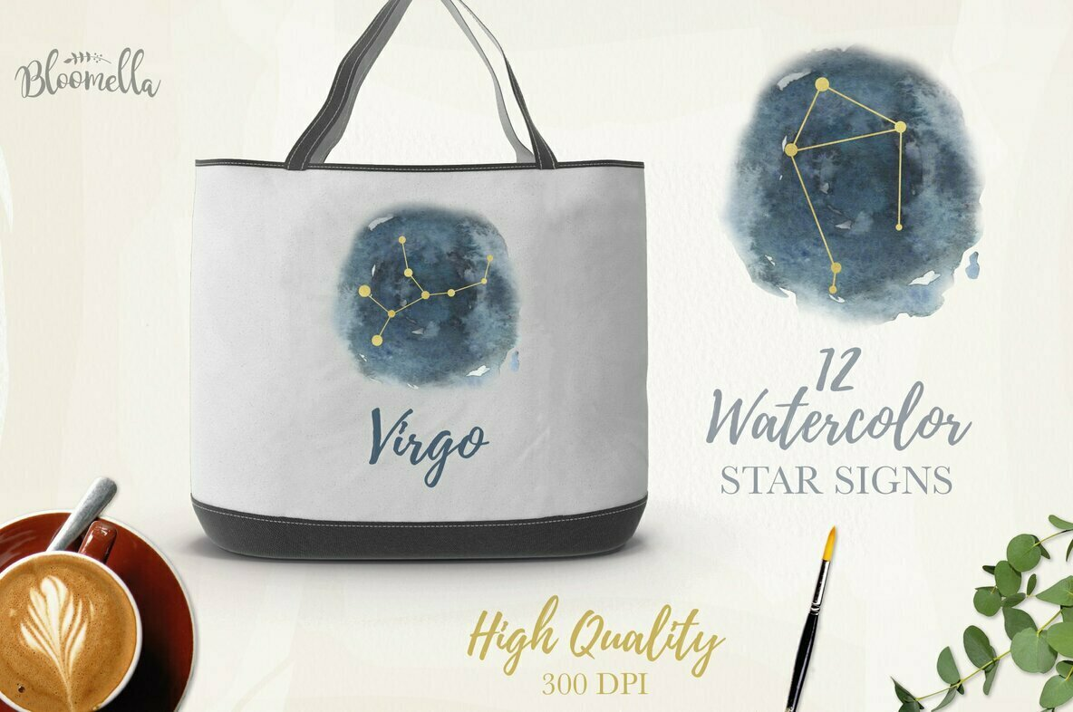 Star Signs Watercolor Package