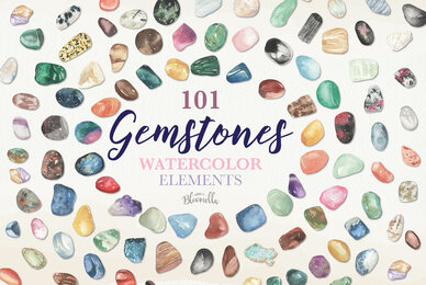 Gemstones Watercolor Package