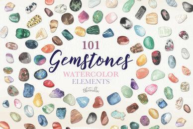 Gemstones Watercolor Package