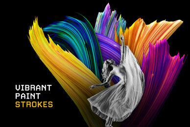Vibrant Paint Strokes