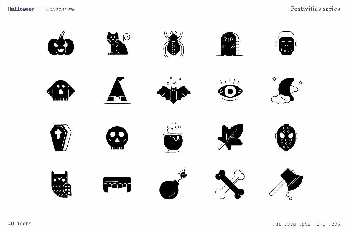 Halloween   Festivities Icons