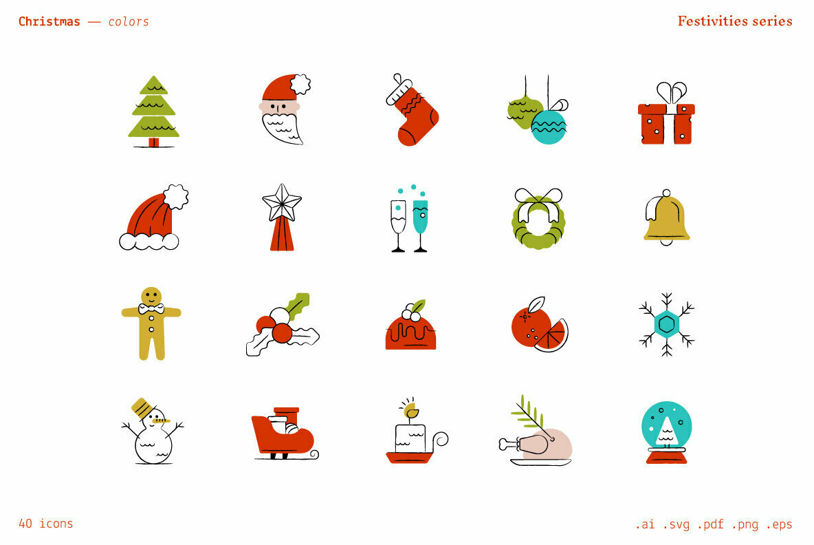 Christmas   Festivities Icons