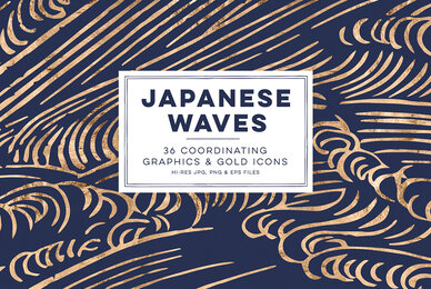 Japanese Waves  Golden Icons
